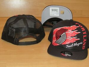 promo code 64f15 09c55 Image is loading Portland-Trail-Blazers-New-Era-9Fifty-Swipe-Trucker-