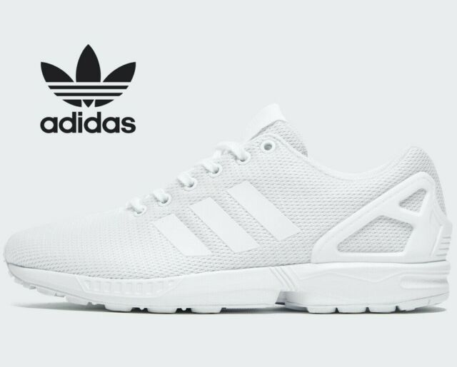 ⚫ Genuine Adidas Originals ZX Flux ® ( Men All Sizes: 6 - 13 ) Mono Triple  White
