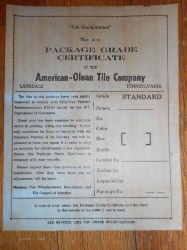 10 x New Old Stock Vintage Peach Bullnose Tile American Olean 1950/'s Retro 6 in.