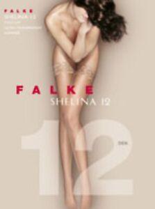 Falke Feinstrumpf Shelina Halterlos 12den Farbauswahl 36-42 Zierspitze