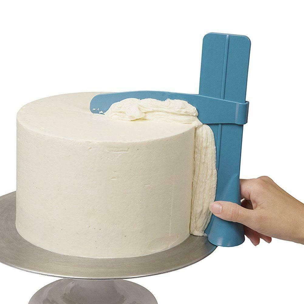 Cake Scraper Icing Smoother Adjustable Cream Spatula Plastic DIY Easy for Use