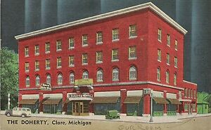 The Doherty Hotel In Clare Mi Postcard 1949 Ebay
