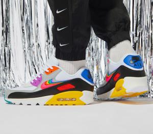Details zu Nike Air Max 90 Be True 2019 Weiß Multi Schwarz UK 7 11 Eu 41 46 CJ5482 100