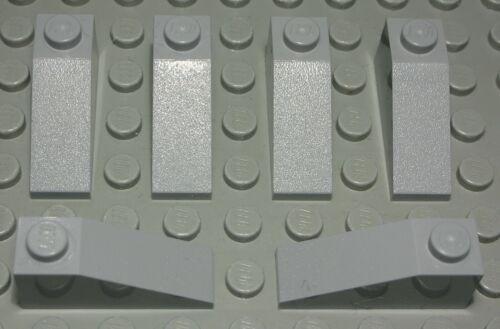 Lego Stein schräg positiv 1x3 new Grau 6 Stück 1209 #
