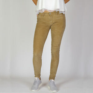 Levi-s-Super-Skinny-Wild-Wheat-beige-Corduroy-stretch-Damen-Jeans-27-30