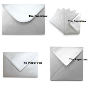 Silver-Metallic-Pearlescent-Envelopes-choice-of-size-amp-quantity