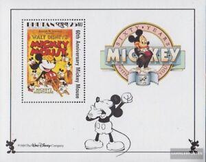 Stamps Bhutan Steady Bhutan Block186 Postfrisch 1989 Walt-disney-figur Micky Maus