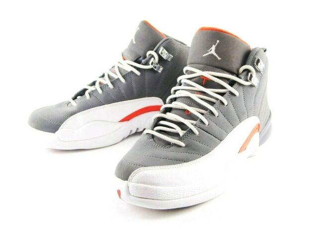 wholesale dealer 11508 832bc Nike Air Jordan 12 Retro GS Cool Grey Size 6y White Team Orange 153265-012