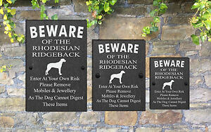 Humorous-Beware-of-the-Dog-Slate-Funny-Gate-House-Sign-3-Sizes-ALL-BREEDS-M-Y