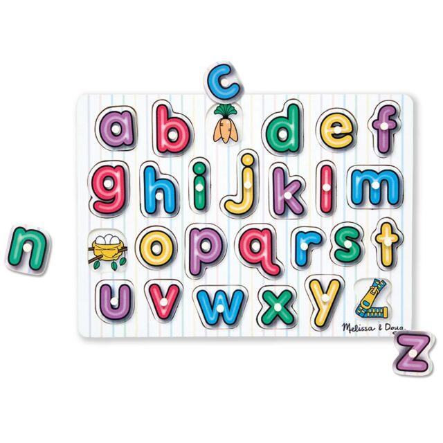 Melissa and Doug Kids Children's See Inside Alphabet Peg Puzzle