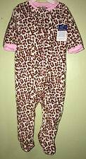 Baby Kiss Baby Girl's CHEETAH Footed Sleeper Size 18 Months NWT