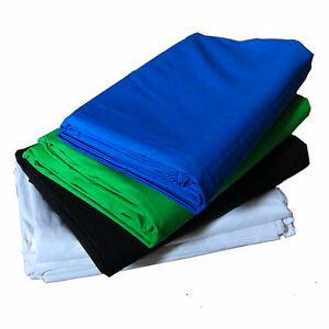 Kit-4-Fondale-DynaSun-W001-W002-W003-W004-3x4mt-Bianco-Nero-Blu-Verde-Foto-Video