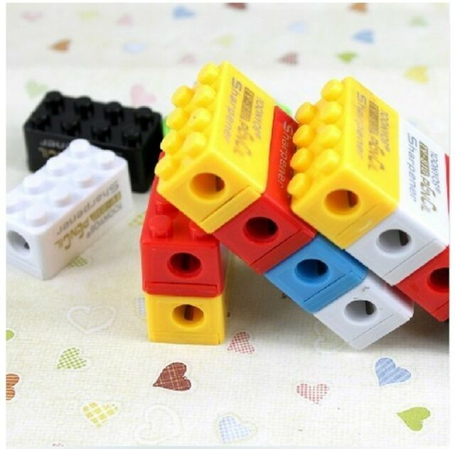 Creative pencil sharpener Mini Pencil Sharpener Penknife Rubber building block A