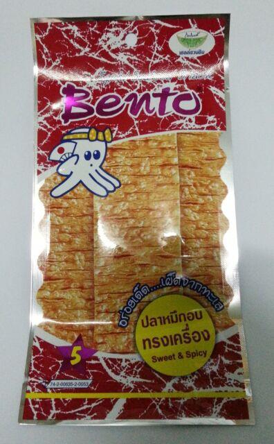 BENTO SEASONED SQUID SEAFOOD SNACK FLAVOR SWEET&SPICY DELICIOUS. Thai Food.