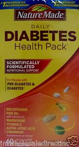 1 x 60pk nature made diabetes health pack multivitamin for Fish oil and diabetes