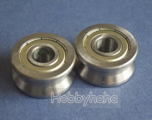 New 2pcs V Groove 10*30*14mm Track Roller Guide Vgroove Sealed Ball Bearing