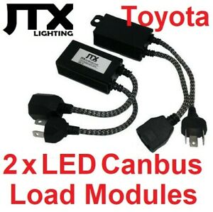 2 x H4 Can Bus Canbus Load Module Fault Eliminator adaptors - LED globes bulbs