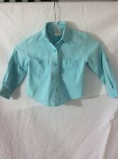Code 1 Sport Boy's Long Sleeve Shirt ~ 4 ~ Roll-Up Sleeve Tabs ~ Blue