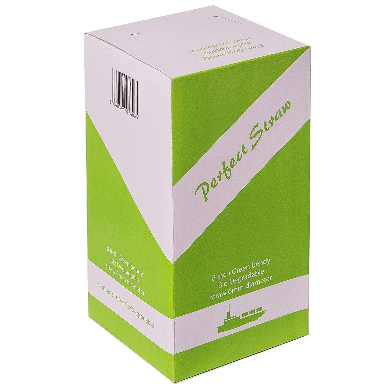 Nous pouvons source il Ltd-Biodégradable souple Paille Blanc 8 in (environ 20.32 cm) - Case of 10000