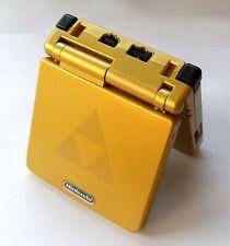 Nintendo Gameboy Advance SP console, GOLD ZELDA TRIFORCE, ricondizionati