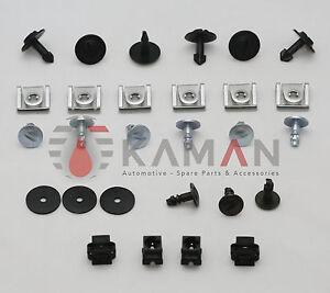 1-Set-Unterfahrschutz-Unterboden-Einbausatz-Repair-Kit-Clips-AUDI-VW-SKODA