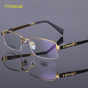 03194119273e Titanium Eyeglass Frames Half Rimless Men s Spectacle Frame Glasses ...