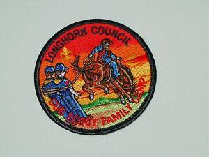Never-Sewn-BSA-Boy-Scouts-Longhorn-Council-Cub-Scout-Family-Camp-3-Inch-Estate