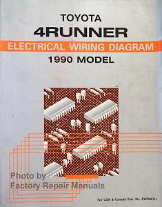 1990 Toyota 4Runner Electrical Wiring Diagrams Manual Original | eBayeBay