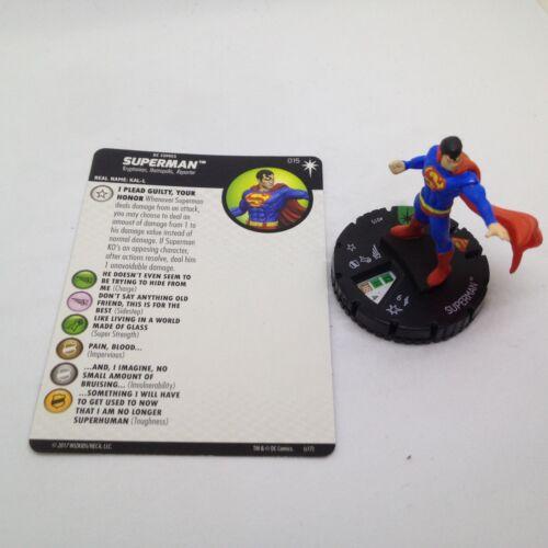 Heroclix DC Elseworlds set Superman #015 Uncommon figure w//card!