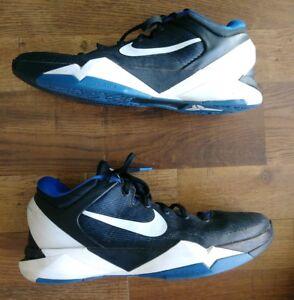 san francisco 1c5fc 4b90c Image is loading Nike-Zoom-Kobe-7-VII-Duke-Treasure-Blue-