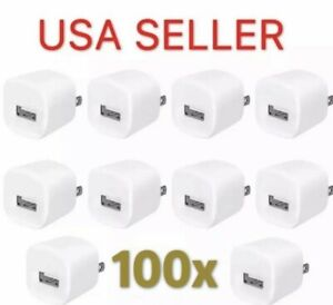 100-White-1A-USB-Power-Adapter-AC-Home-Wall-Charger-US-Plug-FOR-iPhone-5S-6-7-8