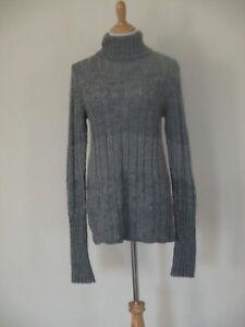 e7086b70219a9e Image is loading Emporio-Armani-Italy-Sweater-Turtleneck-Gray-Alpaca-Wool-