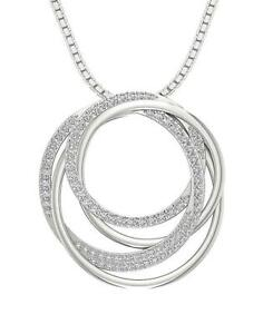 Circle-Pendant-Necklace-SI1-G-1-10-Ct-Natural-Diamond-14K-Two-Tone-Gold-1-22Inch