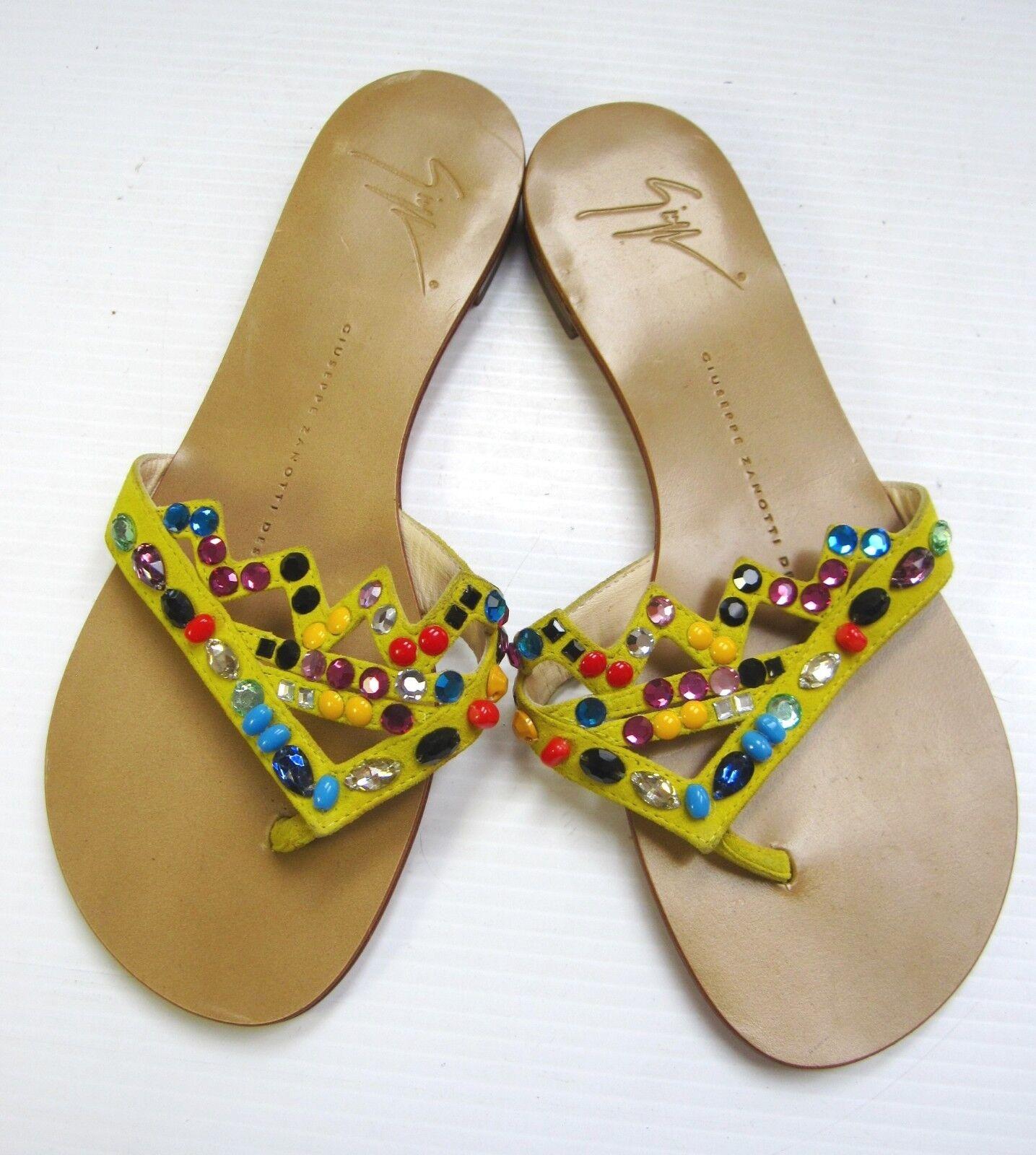 costo effettivo Giuseppe Zanotti Zanotti Zanotti Flat scarpe Dimensione 36 M Slip on giallo Coloreful Beads FLIP FLAP  offerta speciale
