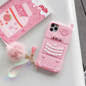 Cute Girly Girl Pink Phone Case Cover For Apple iPhone12 12Pro 11 XR 7 8Plus XS