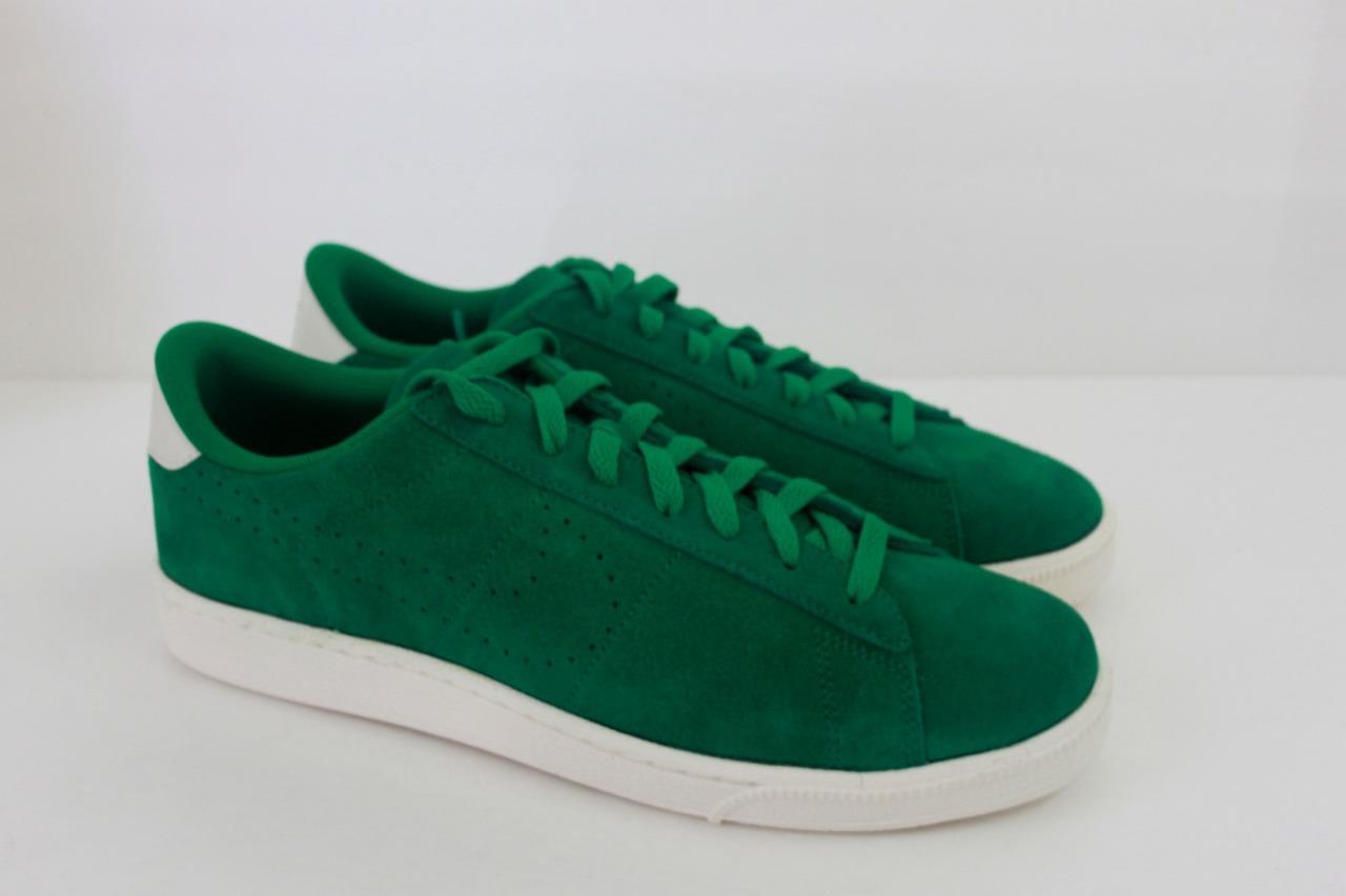 Men's Nike Sneaker Tennis Classic Suede Pine Green Ivory Shoe Sneaker Nike Athletic Size 9.5 19eee5