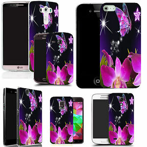 art-case-cover-for-All-popular-Mobile-Phones-pink-star-butterfly-silicone