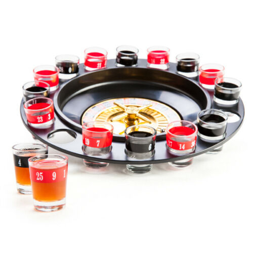 Shot Glass Roulette Spinning Wheel Casino Drinking Game Set Spinner Table Party