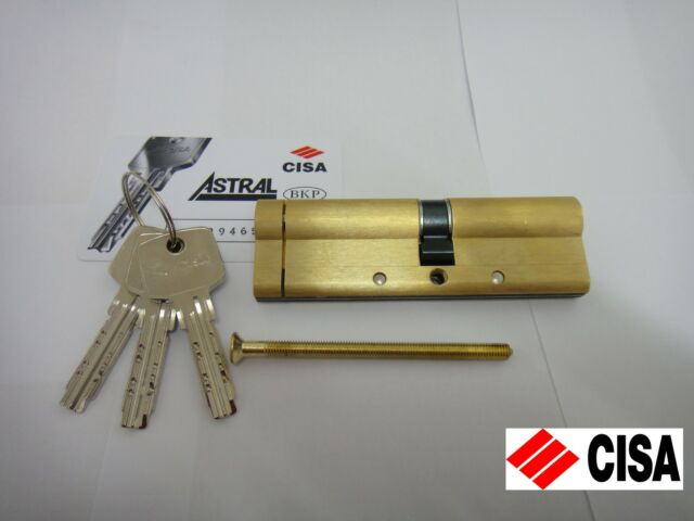 SATIN BRASS CISA ASTRAL OVAL SINGLE CYLINDER WITH REGISTRATION CARD 37//10