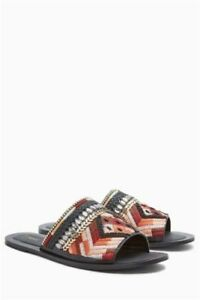 Sandals Rrp Embroidered Jewel Multicolour Next 5 Size New £45 Mules 3 TwqgfUxX