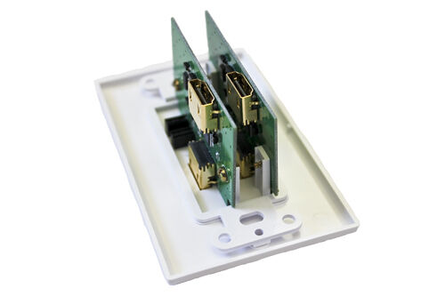 HDMI Dual Double Repeater Wall Plate to Extend HDMI up to 100ft at 1080p