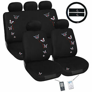butterfly car seat cover set universal fit ebay. Black Bedroom Furniture Sets. Home Design Ideas