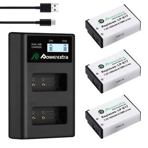 LP-E17 Battery For Canon EOS Rebel M6 M5 M3 T7i T6i T6s 750D SL2 + USB Charger