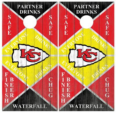 SINGLE Kansas Jayhawks Cornhole Wrap Skin Decal Vinyl Board NCAA Logo NK169