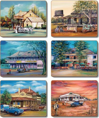 Cinnamon Old Hotels Placemats and Coasters 12 items