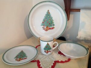 image is loading vintage christmas anchor dinnerware holiday magic 4 piece