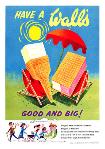 Have a Walls ice Cream Vintage advertising poster reproduction
