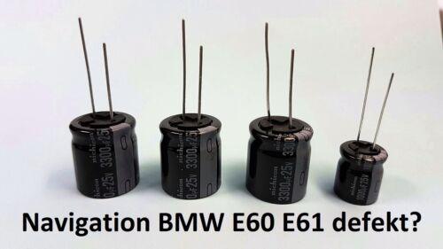 Réparation-set BMW e60 e61 Navi CCC Condensateur 3300uf 18x20 1000uf Elko 5er