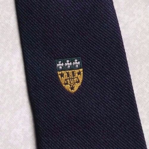 Bouclier Crested tie vintage CLUB ASSOCIATION 1960 S 1970 S Bleu marine College Society afficher le titre d'origine