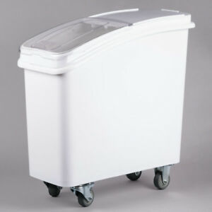 21 Gallon Dry Ingredient Rolling Storage Bin Container